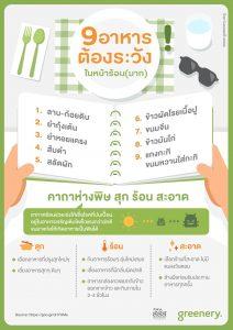 9 อาหารต้องระวังในหน้าร้อน (มาก)