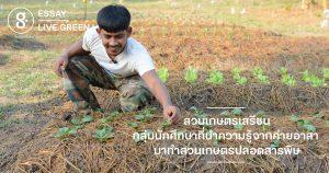 สวนเกษตรเสรีชน: สวนของกลุ่มนักศึกษาที่นำความรู้จากค่ายอาสา มาทำสวนเกษตรปลอดสารพิษ